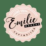 logo emilie mahaux copywriter